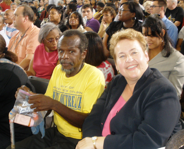 Tommy and Martha Kegel, UNITY Executive Director, at President Obama's Town Hall meeting