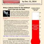 Ending Veteran Homelessness Weekly Newsletter — November 25, 2014