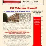 Ending Veteran Homelessness -- Weekly Newsletter Dec. 22, 2014