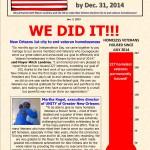 Ending Veteran Homelessness — Weekly Newsletter Jan. 7, 2015