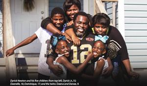 Dyrick Newton and his five children